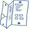 Booklet design icon